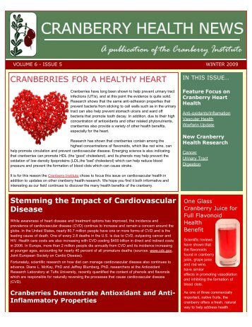 CRANBERRIES FOR A HEALTHY HEART