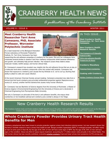 New Cranberry Health Research Results
