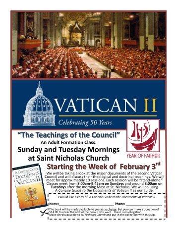 Vatican II flyer.pub - Catholicnorthspencer.org