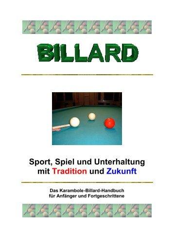 Billard Handbuch - beim Aarauer Billard Club