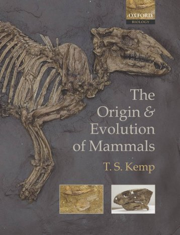 The Origin and Evolution of Mammals - Moodle