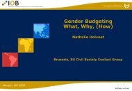 Gender Budgeting What Why (How)