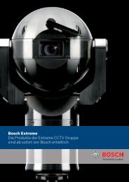 Bosch Extreme CCTV - Bosch Security Systems