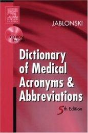 Acronym Dicitonary and Glossary