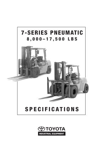 7-SERIES PNEUMATIC SPECIFICATIONS