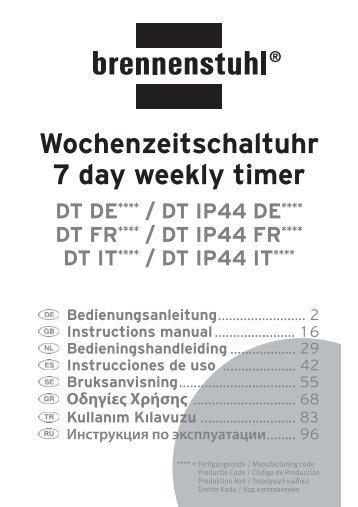 Wochenzeitschaltuhr 7 day weekly timer