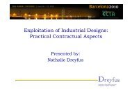 Exploitation of Industrial Designs Practical Contractual Aspects