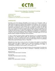 Survey - Trade Mark Use in Opposition/Cancellation ... - ECTA