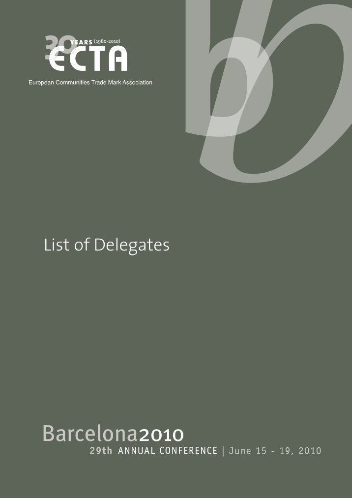list of delegates List of delegates this document is also available in the following formats list of individuals who are unable to attend bianisotropics'97 but who have provided a poster for presentation.