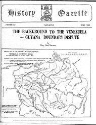 THE BACKGROUND TO THE VENEZUELA - GUYANA BOUNDARY DISPUTE