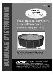 Piscina Frame con rivestimento in resina Sequoia Spirit® - Steinbach