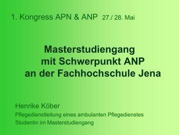 an der Fachhochschule Jena