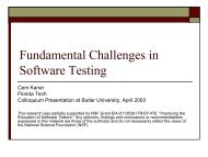 Fundamental Challenges in Software Testing - Testing Education