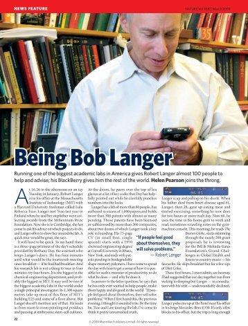 Being Bob Langer