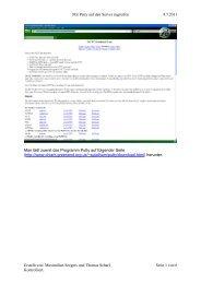 Mit Putty auf den Server zugreifen 4.7.2011 Man lädt zuerst das ...