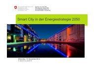 Smart City in der Energiestrategie 2050