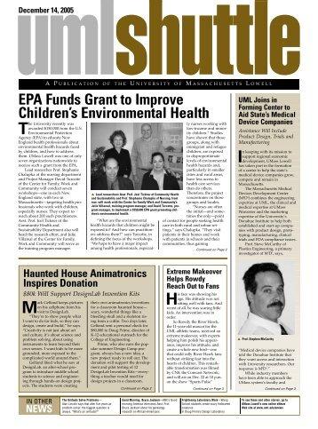 EPA Funds Grant to Improve Children's Environmental Health