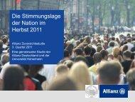 Die Stimmungslage der Nation im Herbst 2011
