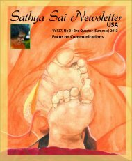 Sathya Sai Newsletter