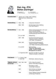 Dipl.-Ing (FH) Stefan Zierlinger