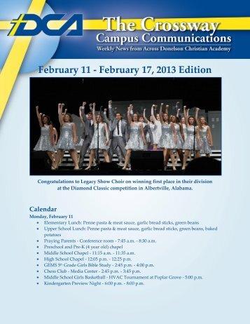 February 11 - February 17 2013 Edition