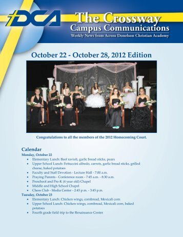 October 22 - October 28 2012 Edition