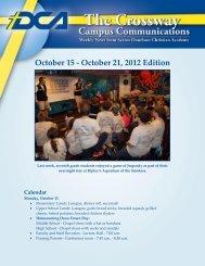 October 15 - October 21 2012 Edition