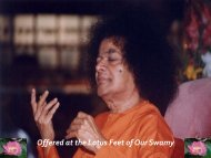 Offered at the Lotus Feet of Our Swamy