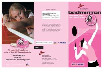 Page 1 K o n t a k t Österreichischer Badminton Verband ...