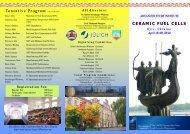 Tentative Program CERAMIC FUEL CELLS