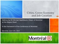 Cities Green Economy and Job Creation