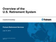 Overview of the U.S Retirement System