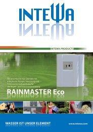 RAINMASTER Eco RAINMASTER Eco - zur Regenwassernutzung