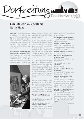 Dorfzeitung Kettenis 12-11 - Stadt Eupen