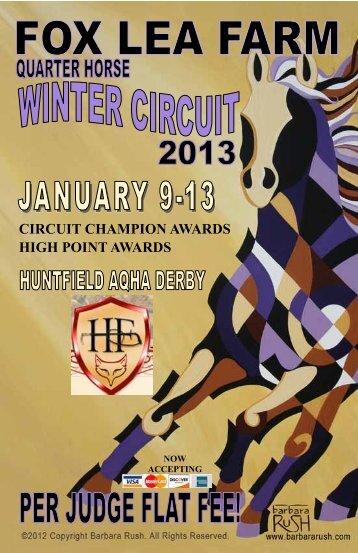 CIRCUIT CHAMPION AWARDS HIGH POINT ... - Fox Lea Farm