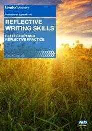 Reflective writing skills