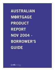 AUSTRALIAN MORTGAGE PRODUCT REPORT NOV 2004 - BORROWER'S GUIDE