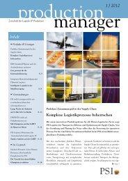 1 / 2012 Inhalt - PSI Logistics GmbH