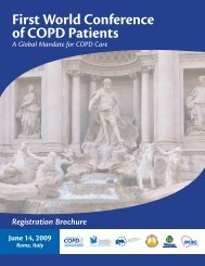 First World Conference of COPD Patients