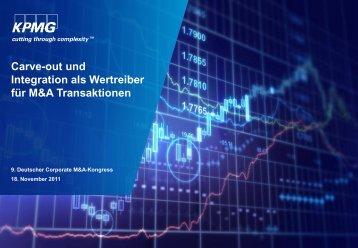 Carve-out und Integration als Wertreiber für M&A Transaktionen