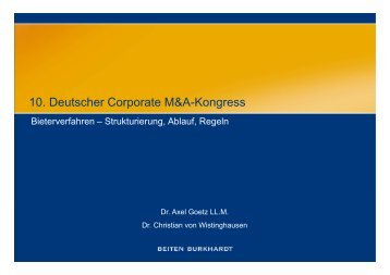 10 Deutscher Corporate M&A-Kongress