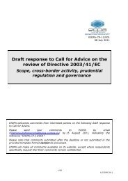 Draft response to Call for Advice on the review of ... - EIOPA - Europa