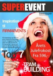 SuperEvent EventMagasin - Inspiration til Julefrokost og TeamBuilding