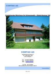 Freistehendes Wohnhaus (im Schwarzwald) – Objekt-Nummer 104