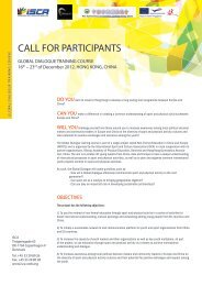 Global Dialogue Call for Participants 2012 (PDF, 0.54 - ISCA