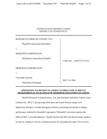 UNITED STATES DISTRICT COURT DISTRICT OF ... - FindForms.com