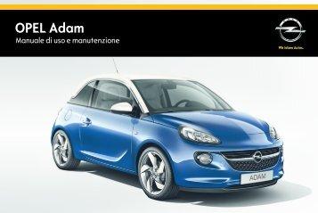 Opel ADAM MY 15.0 - ADAM MY 15.0 manuale