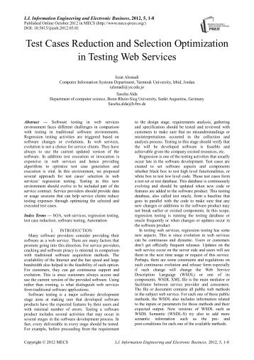 Test Cases Reduction and Selection Optimization in Testing Web ...