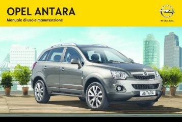 Opel Antara MY 14.0 - Antara MY 14.0 manuale