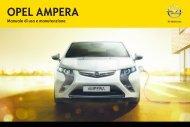 Opel Ampera MY 12.5 - Ampera MY 12.5 manuale